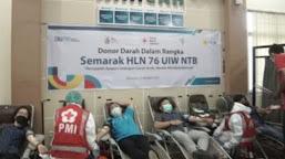 PLN NTB Gelar Kegiatan Donor Darah, Meriahkan Hari Listrik Nasional