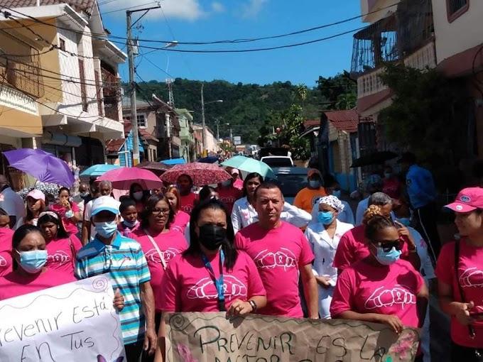 Alcaldía de Cambita Garabitos realiza caminata  para la concienciación para la prevención del cáncer de mama