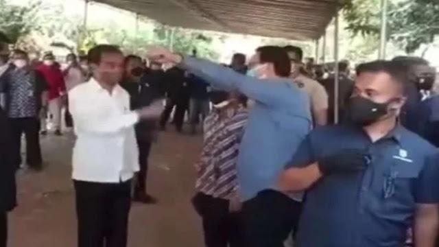 Momen Jokowi Sapa Ahok saat Melayat ke Rumah Duka Sabam Sirait: Hai!
