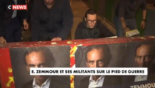 [VIDEO] PRÉSIDENTIELLE 2022 : ERIC ZEMMOUR ET SES MILITANTS SUR LE PIED DE GUERRE