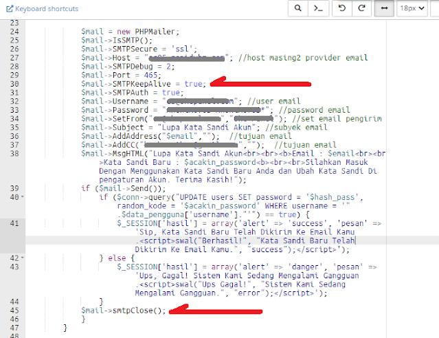 smtp phpmailer error