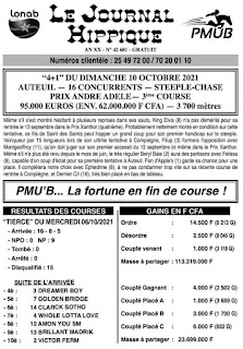 programme quinté Pronostic dimanche 10/10/2021