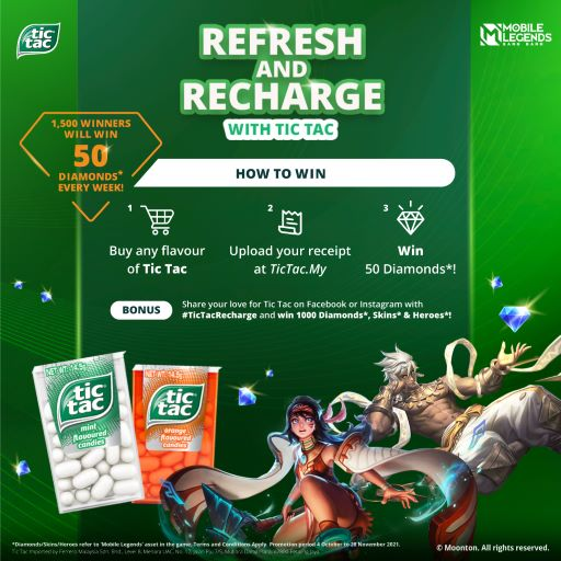 Refresh, Recharge, & Celebrate the Little Wins with Tic Tac x Mobile Legends, Tic Tac Malaysia, Mobile Legends, Refresh, Recharge Tic Tac, Lifestyle