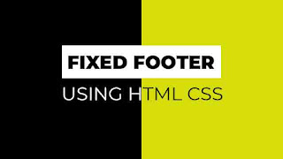 fixed footer
