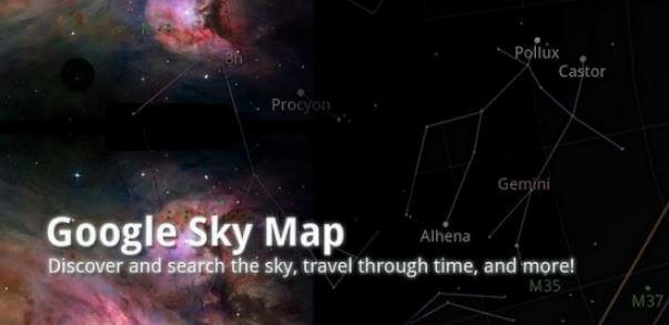 ما, هي, الكائنات, التي, يمكنك, عرضها, على, خرائط, Google ,Sky؟