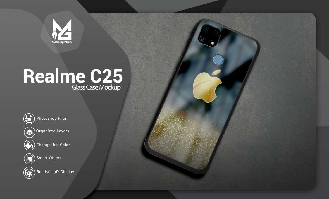 Mockup Glass Case Realme C25