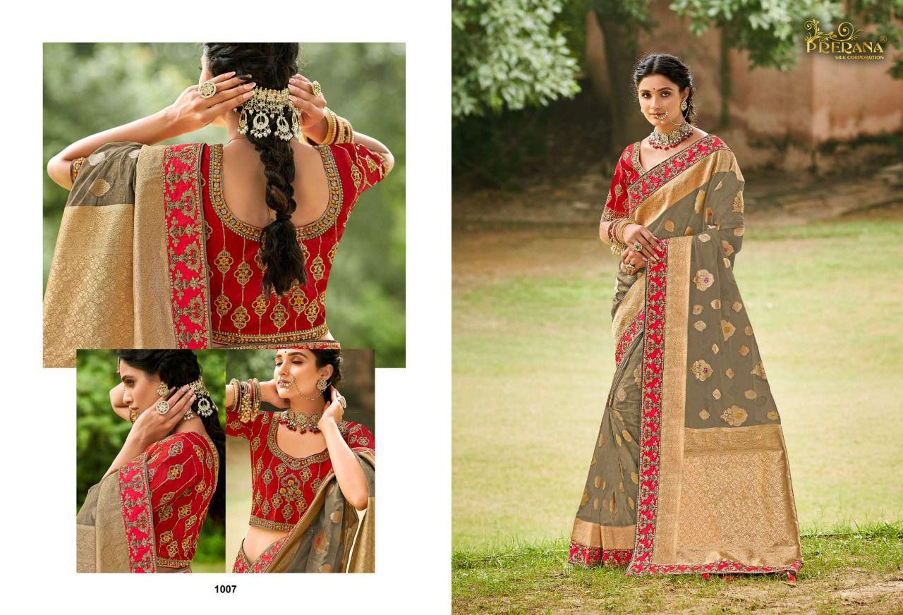 Prerana Series 1001 To 1009 Sarees Catalog Lowest Price