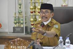 Walikota HML Hadiri Rapat Monitoring dan Evaluasi MCP Triwulan Ke-3 Tahun 2021