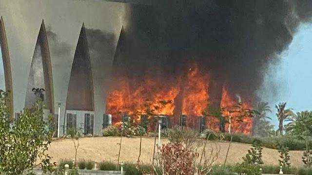 """الصحة تعلن عن إصابات في حريق """"مهرجان الجونة"""""""