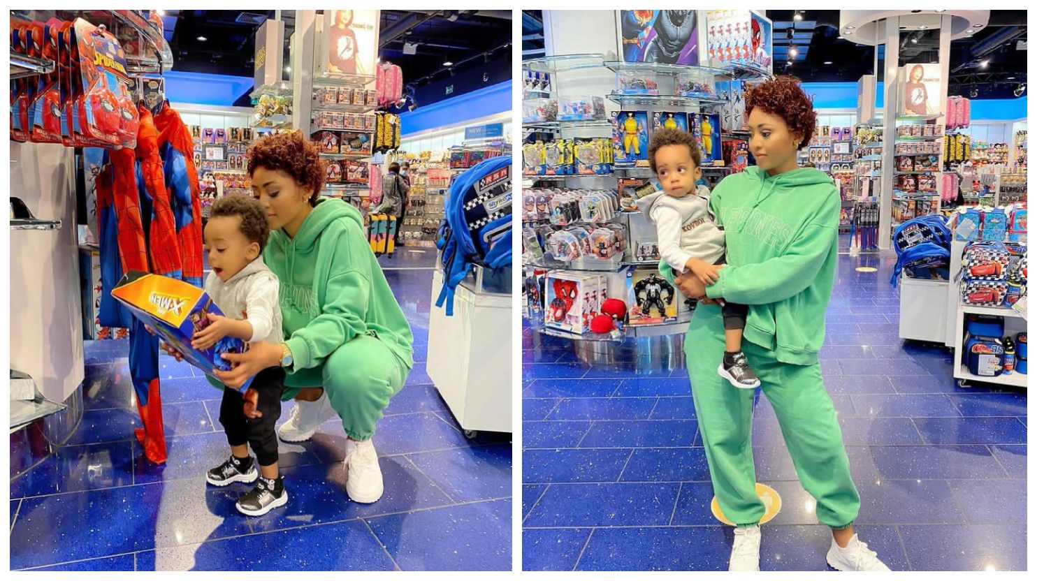 Nollywood actress, Regina Daniels releases adorable 4 new photos with her cute son today