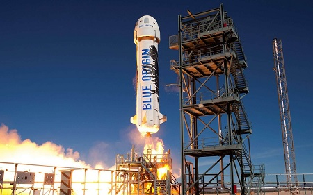 Blue Origin landed after a few minutes in space