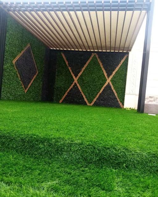 ترتيب الحوش بالعشب بجدة | شركة الطارق تركيب زرع صناعي جده