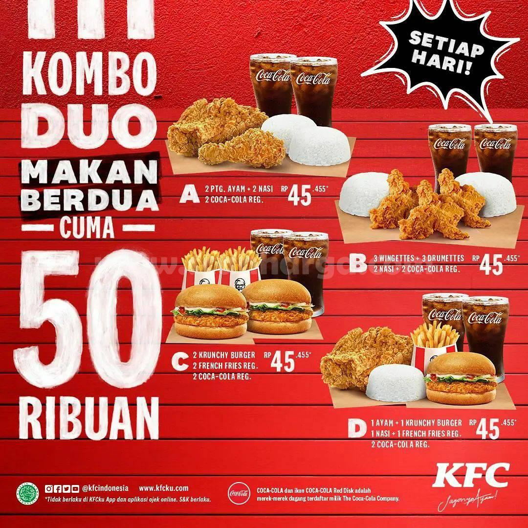 Promo KFC KOMBO DUO CUMA 50 RIBUAN