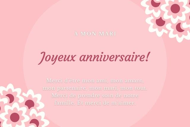Joyeux anniversaire mon mari: Liste de textes uniques
