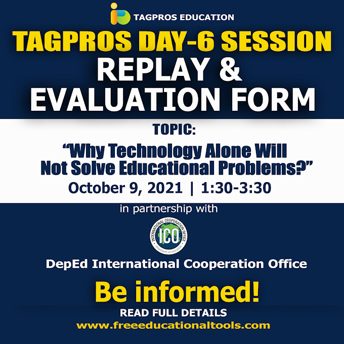 October 9 Day 6 Evaluation Form   Tagpros Education Free Webinar for Teachers