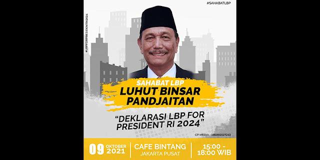 Dorongan Luhut Jadi Capres 2024 Bagai Mimpi di Siang Bolong