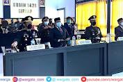 Secara Virtual, Kapolres Ikuti Upacara HUT TNI ke-76 di Makodim 1420 Sidrap
