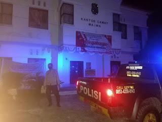 Cegah gangguan Kamtibmas, Personel Polsek Maiwa Polres Enrekang Laksanakan Patroli Blue Light