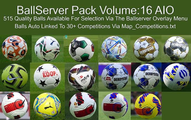 New Balls Server V16 Season 2021 AIO For eFootball PES 2021