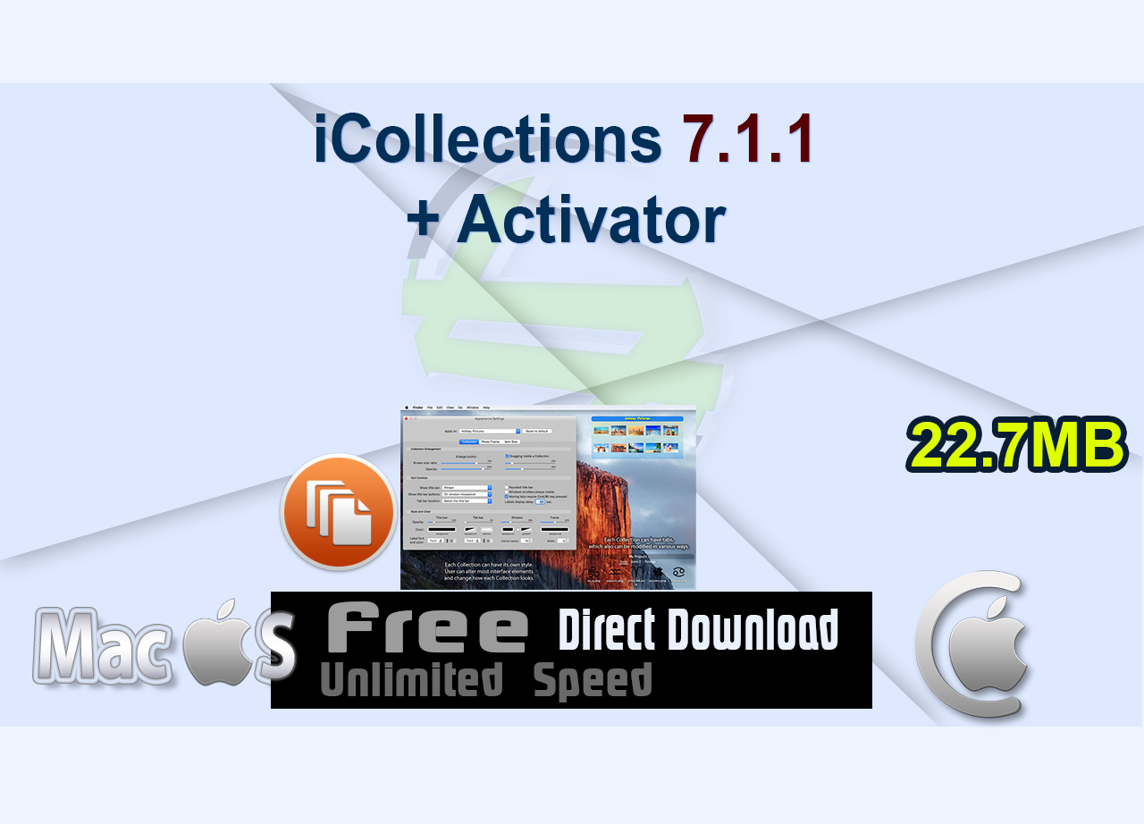 iCollections 7.1.1 + Activator _CenterMac