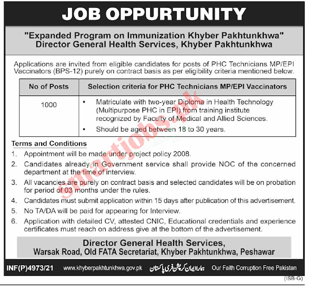 Latest Health Department Jobs - Apply Now