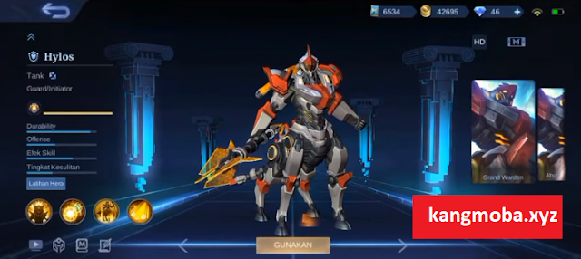 Script Skin Epic Hylos Iron Steed Full Effect + Voice Mobile Legends