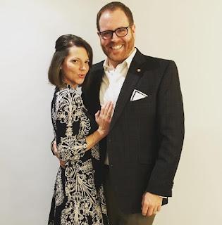 Josh Gates with his ex-wife Hallie Gnatovich