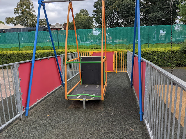 An Alternative Day Out in Cumbria | Ideas for Places to Visit - Bitts Park Wheelchair Swing