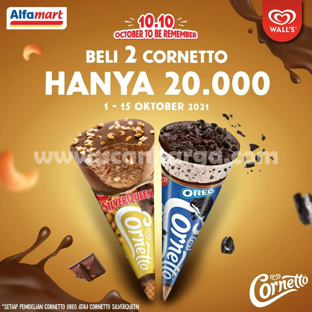 ALFAMART Promo Beli 2 Cornetto Walls hanya Rp. 20.000 Aja