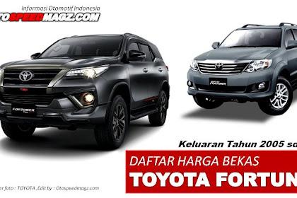 Sudah Murah..!!,Harga Mobil Bekas Toyota Fortuner di Tahun 2021 Mulai 120 Juta-an ( Harga 2nd  Tahun 2005 – 2018 )