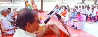 राजनीतिक संत थे कमला प्रसाद सिंह:डॉ. विनोद   | #NayaSaberaNetwork