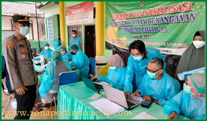 Satgas Penanganan Covid-19  Situbondo Tinjau Gerai Vaksinasi, Animo Masyarakat Cukup Tinggi