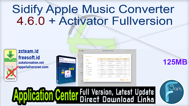 Sidify Apple Music Converter 4.6.0 + Activator Fullversion