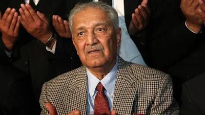 10 अक्टूबर को 85 साल  की उम्र में डॉ अब्दुल कादिर खान का निधन हो गया था