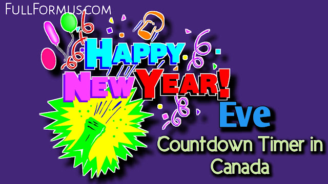 New Year's Eve in Canada Countdown 2021