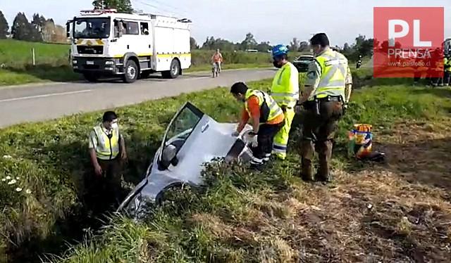 Accidente de tránsito en el sector Trafún