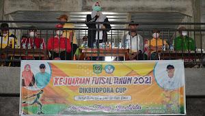 Bupati Bima Buka Kejuaraan Futsal Dikbudpora Cup 2021 | SorotNTB