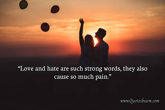 Love hate Quotes