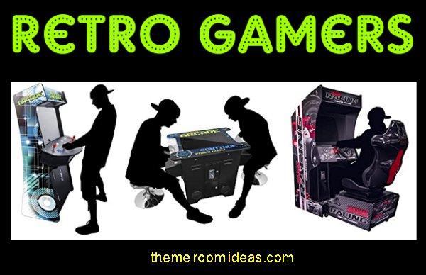 retro gamers arcade games gamer bedroom furniture gaming bedroom decor