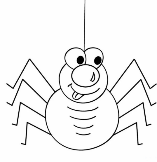 Spider Coloring Pages For Kids 2
