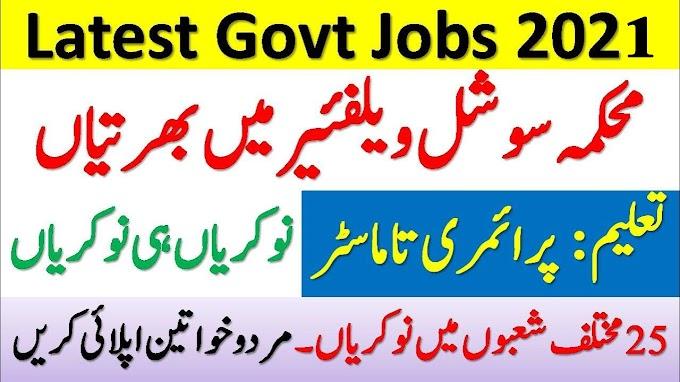 Directorate of Social Welfare, Special Education & Women Empowerment Jobs In KPK