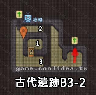 古代遺跡攻略地圖B3F-另一頭