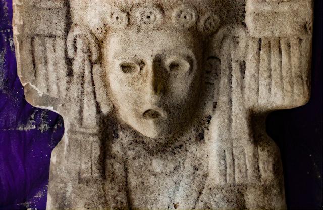 Escultura de Hidalgo Amajac, municipio de Álamo Temapache, Veracruz. (Fragmento) Foto: María Eugenia Maldonado Vite.