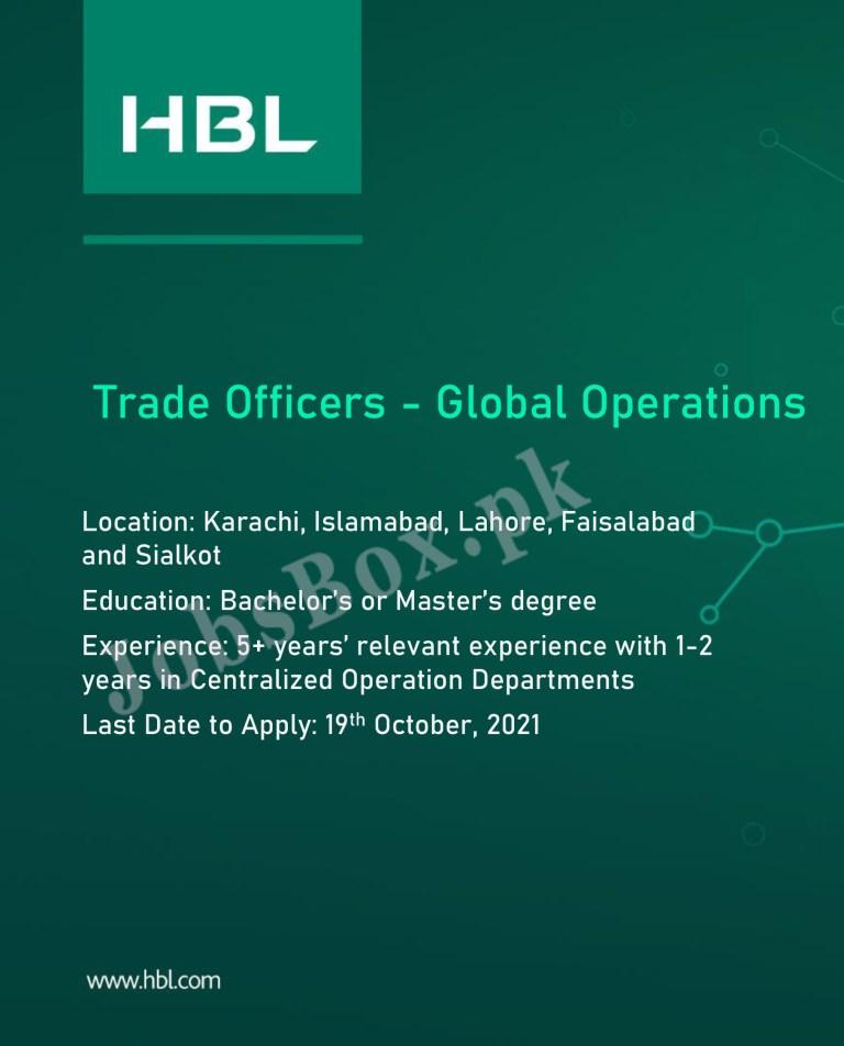 www.hbl.com - HBL Habib Bank Limited Jobs 2021 in Pakistan