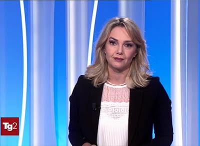 Stefania Zane tg2 oggi 8 ottobre