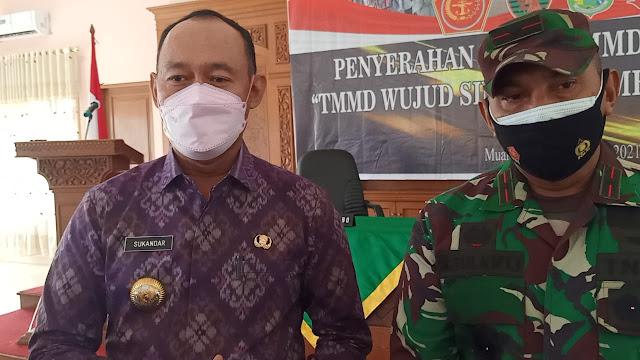Ini Kata Bupati Tebo Sukandar, Terkait Jalan Baru Program TMMD ke-112 Kodim 0416/Bute Kedepannya