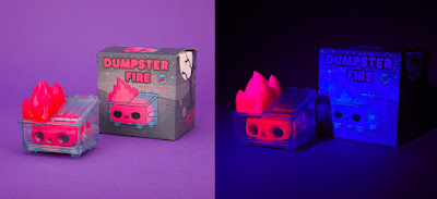 myplasticheart Exclusive Dumpster Fire Red Skull Trash Edition Vinyl Figure by 100% Soft