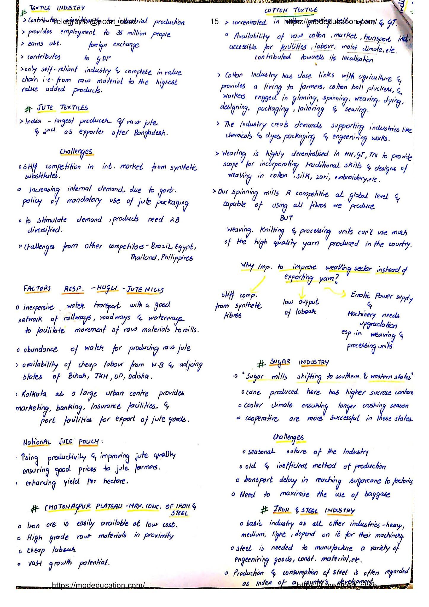 Class 10 Geography Handwritten Notes, class 10 geography chapter 1 handwritten notes