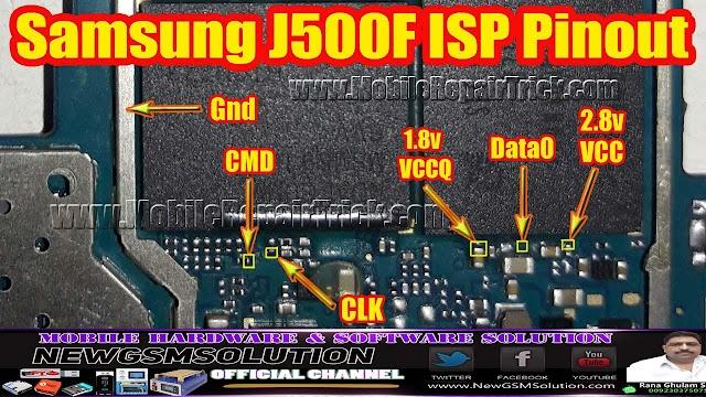Samsung J500F| J5 2015 ISP Pinout
