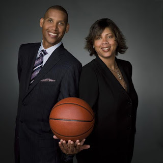 Cheryl Miller with her brother Reggie